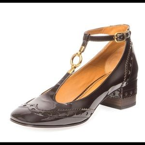 CHOLE' PERRY PATENT T-STRAP SHOE